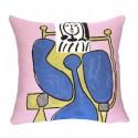 Coussin Femme assise à la robe bleue PICCASSO - JULES PANSU