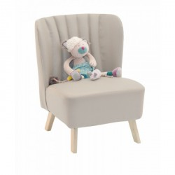 Fauteuil skai gris - Moulin Roty