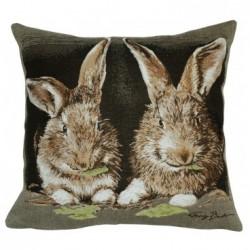 Coussin lapins Arlette et Alphonse JULES PANSU