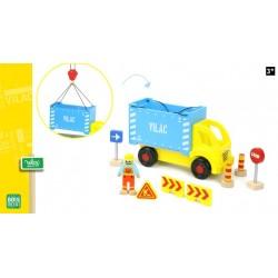 Camion porte container avec accessoires de chantier - VILAC
