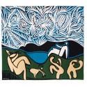 Tapisserie Bacchanale avec chevreau et spectateur - Picasso - Jules Pansu