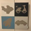 Tableaux Pop Art  sur toile 40 x 40 cm CB CONCEPT
