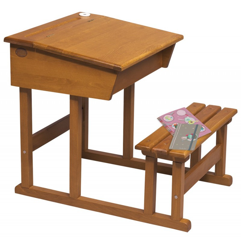 Bureau pupitre d 39 colier moulin roty la malle aux id es for Table d ecolier en bois